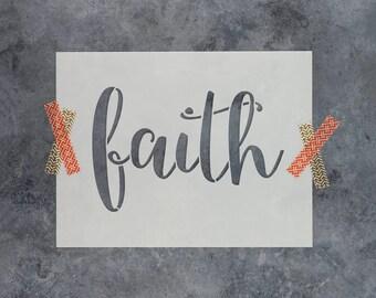 """Faith Stencil - Reusable DIY Craft Stencils of the Word """"Faith"""""""