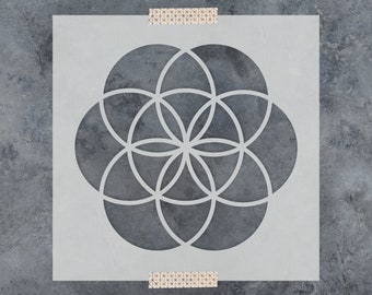 Seed of Life Stencil - Reusable DIY Craft Stencil of Seed of Life - Sacred Geometry Stencil