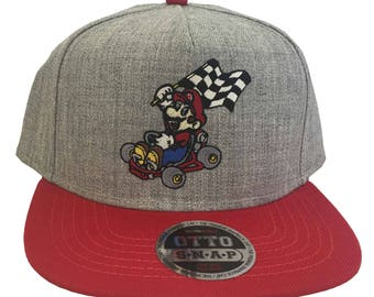 Mario Hat, Mario Kart Hat, Luigi Hat, Super Mario Hats, Mario Brothers Hats, Nintendo Hat, Custom Hat, Embroidered Hat