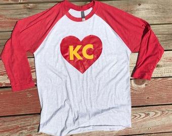 KC Heart Raglan