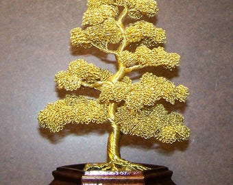 Moyogi Style Wire Tree Sculpture (yellow)