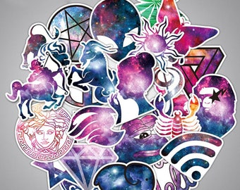 36 Pc Space Theme Sticker Bomb Decal Graffiti Car Skateboard Laptop Luggage Creative Unique