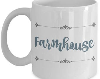 Farmhouse Mugs | Farmhouse Decor | Farmhouse Kitchen | Farmhouse Style | Christian Gifts | Mother's Day | Birthday Gift for Mom Her 11oz Cup
