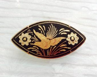 Vintage Damascene Brooch