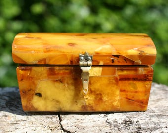 Art Deco Amber Butterscotch Genuine  / Free Shipping Worldwide