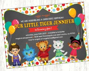 Daniel Tiger Birthday Invitation, Daniel Tiger Birthday, Boy Birthday, Girl Birthday, Daniel Tiger, Mister Rogers, Tiger Party