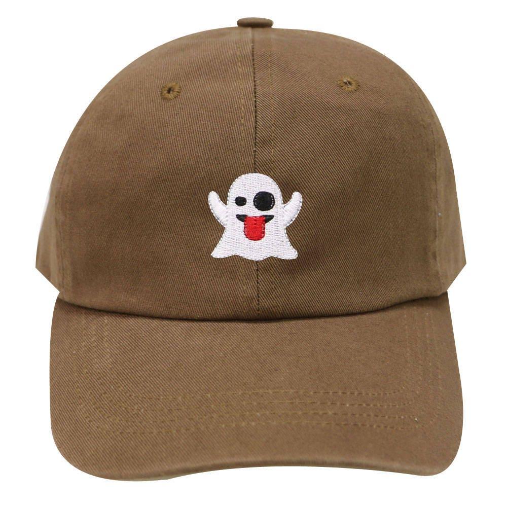 59278112ee2 Capsule Design Cute Ghost Cotton Dad Baseball Cap Brown