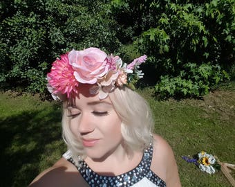 Wedding Flower Crown, Flower Crown, Wedding Tiara