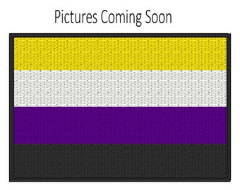 Non-binary Pride Flag Patch, Iron on Patch, Sew on Patch, Pride Flag Pin, Pride Flag Patch, Non-binary Pride Patch, Iron on Non-binary Pride