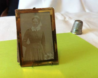 Beautiful 1920s Antique Dollhouse Accessoires Picture Frame with very old Photo