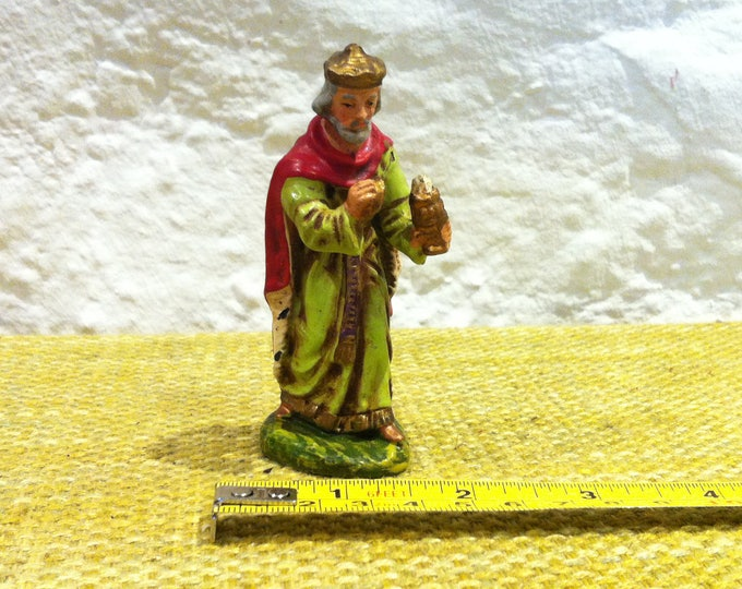 Vintage Christmas Figure, Crib Figures Decoration Xmas