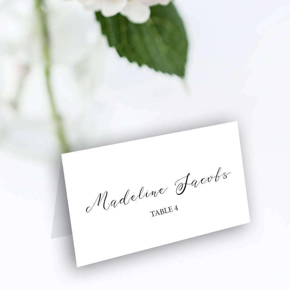 Elizabeth, Printable Place Cards/ Seating Cards, Classic Place Cards ...