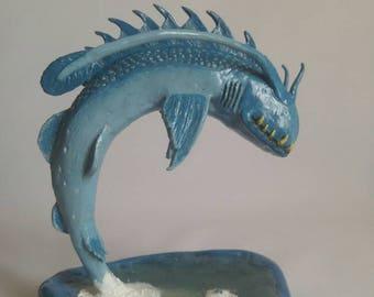 Monster Fish Sculpture