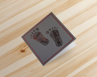 SWEET BABY GIRL Foil Card Welcome Baby Shower