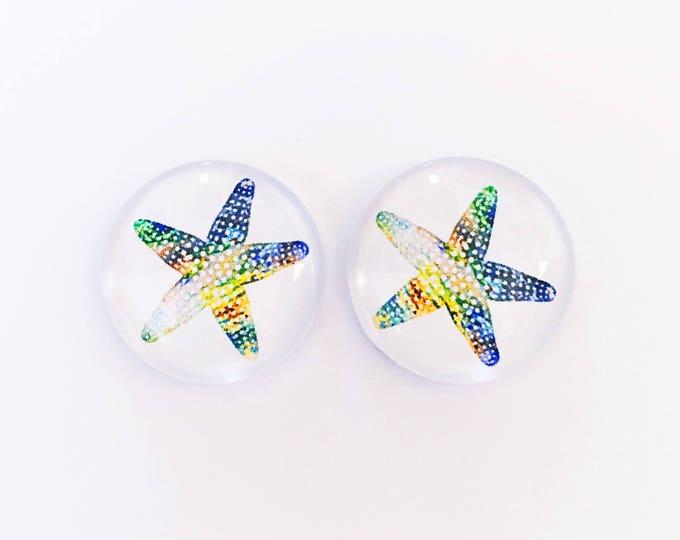 The 'Starfish' Glass Earring Studs