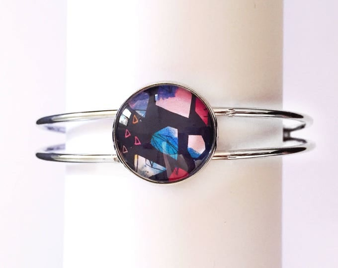 The 'Jane' Glass Cuff Bracelet