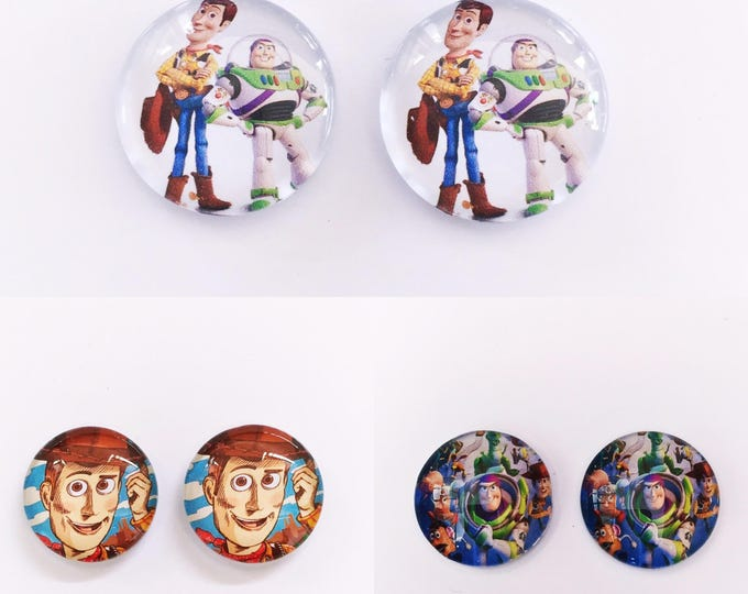 The 'Toy Story' Glass Earring Studs