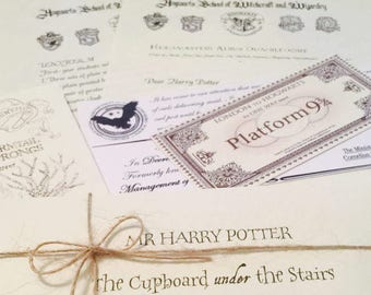 Harry Potter Acceptance letter, FREE personalisation. Wish Bracelet. marauders map