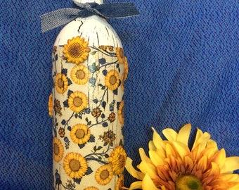 Sunflower bottle art.