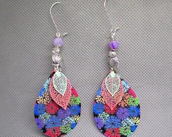 Colorful OWL earrings.