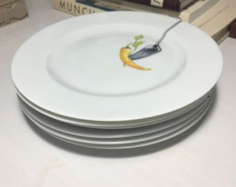 Yves Deshoulieres Limoges French Salad Plates (6)