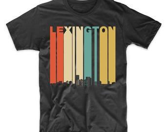 Vintage Retro 1970's Style Lexington Kentucky Skyline T-Shirt