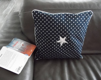 Star Midnight blue and silver 40 * 40 pillow cover
