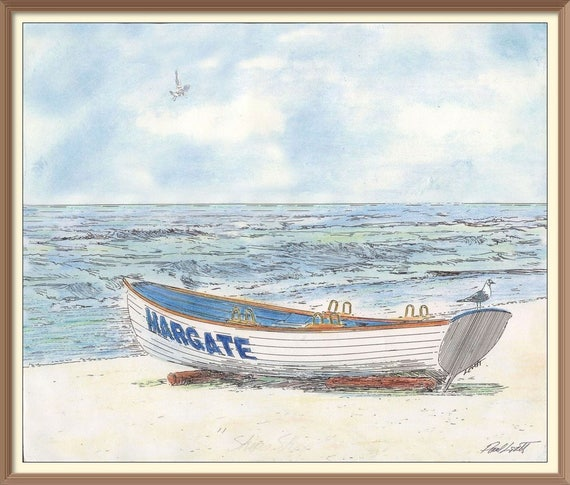 Margate Lifeguard Boat and Scenic Ocean