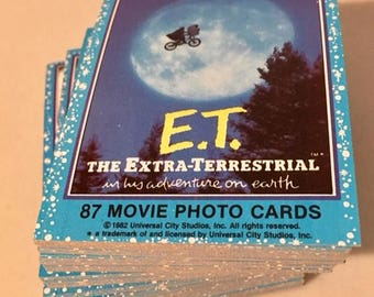 E.T The Extra Terrestrial Complete Card Set 1982