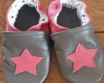 soft leather slippers star