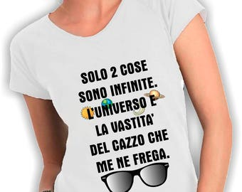 Women's V neck t shirt two things are infinite, the universe and the vastness of the Dick that I care
