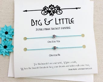 Big Little Sorority Gift Sister Gift For Sister Sorority Gifts Big Little Reveal Gift Big Little Gift Greek Jewelry Sorority Bracelet