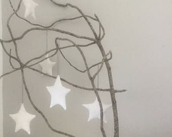 white linen Christmas star