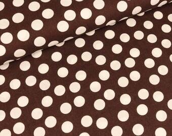 Cotton unreglmäßige dots on dark brown (8,50 EUR / meter)
