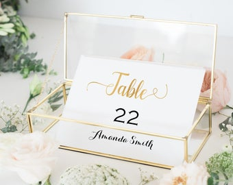 Gold place cards -  Place Cards Template - Simple Wedding - Gold Wedding - Downloadable wedding #WDH765PLGold