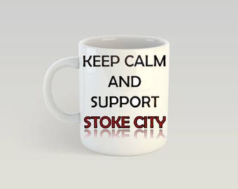Stoke City Football Mug - Football Supporters Gift - 10 Ounce - Gift For Men - Gift For Women - Birthday Present - Sports Fan - Personalised