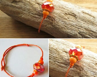Waxed cotton bracelet 16251