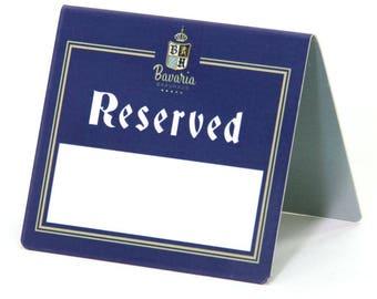 Personalised Reserved Table Signs with Drywipe Area.  Restaurant. Pub. Personalised. - MILBTPRINTDRYWIPE