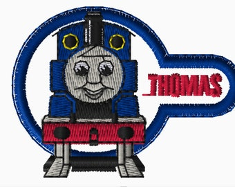 Set of 3 - 4x4 Embroidery Files: Thomas and Friends, Choose Your Size and Format
