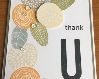 Flower and Seed Head Arty Thank You Card