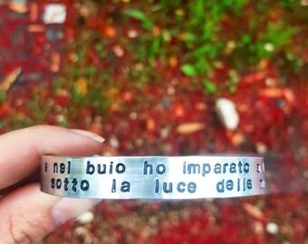 High engraving bracelet
