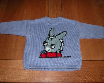Hand knit child sweater