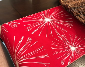 Fireworks Table Runner | July 4th Table Runner | Red | 4th of July Table Runner | White | Home Decor | Fireworks Decorations | Patriotic