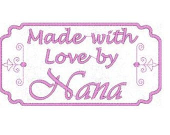 Made by Nana Embroidery Design, Quilt Label Embroidery Design, 4x4 Hoop MULTIPLE FORMATS Download