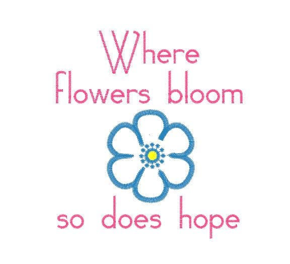 Flower embroidery design pattern file quote saying where