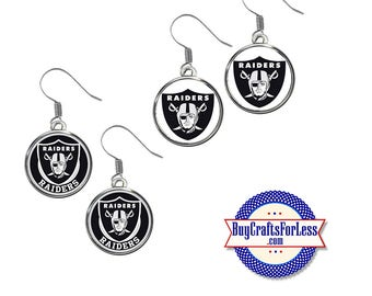 RAIDERS Football EARRINGS, CHooSE Logo  - Super CUTE!  +FReE SHiPPiNG & Discounts*