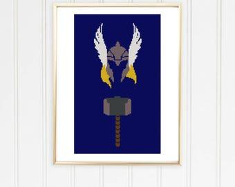 Thor cross stitch pattern avengers cross chart avengers xstitch marvel cross stitch avengers chart thor cross chart /#03-015