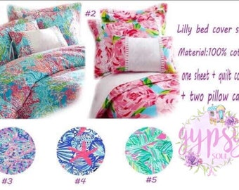 Lilly Pulitzer inspired bedding set  {Twin-Full/Queen-King}