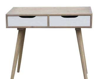 90X40X77 cm natural wood and drawers console Scandi Nature
