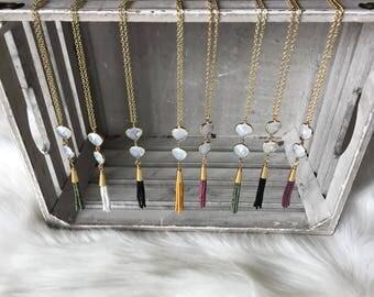 Beaded Tassel Necklace /Tassels /Tassel necklace